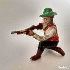 Figuras de Goma y PVC: FIGURA VAQUERO GOMA ELASTOLIN. Lote 209688176