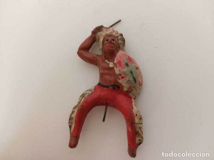 FIGURA JINETE INDIO ELASTOLIN (Juguetes - Figuras de Goma y Pvc - Lafredo)