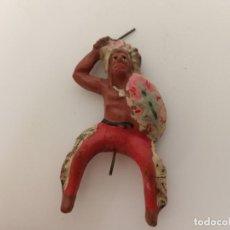 Figuras de Goma y PVC: FIGURA JINETE INDIO ELASTOLIN. Lote 209688240
