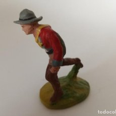 Figuras de Goma y PVC: VAQUERO MASA SALPA LINEOL. Lote 209688522
