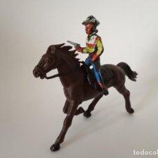 Figuras de Goma y PVC: FIGURAS VAQUERO XILOPLASTO LANDI. Lote 209688655