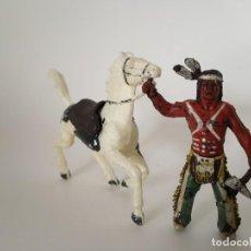 Figuras de Goma y PVC: FIGURAS INDIO XILOPLASTO LANDI. Lote 209688920