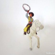 Figuras de Goma y PVC: FIGURAS VAQUERO XILOPLASTO LANDI. Lote 209688995