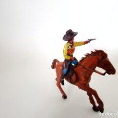 Figuras de Goma y PVC: FIGURAS VAQUERO XILOPLASTO LANDI. Lote 209689107