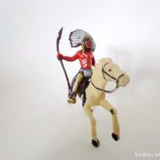 Figuras de Goma y PVC: FIGURAS INDIO XILOPLASTO LANDI. Lote 209689242