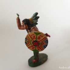Figuras de Goma y PVC: FIGURA RARO INDIO MASA LINEOL. Lote 209689313