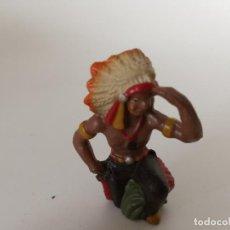 Figuras de Goma y PVC: RARO INDIO MASA LINEOL ELASTOLIN. Lote 209689405