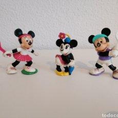 Figuras de Goma y PVC: LOTE 1 MICKEY - 2 MINNIE. FIGURAS DE GOMA PVC DISNEY. MADE IN GERMANY. PINTADAS A MANO. Lote 209705251