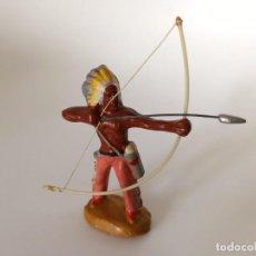Figuras de Goma y PVC: FIGURA RARO INDIO MASA SALPA. Lote 209722635