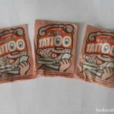 Figuras de Goma y PVC: TRES SOBRES CERRADOS DUNKIN TATTOO - CHICLE + PEGATINA , GALLINA BLANCA BARCELONA AÑOS 70. Lote 209731191