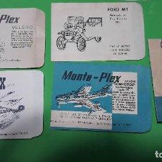 Figuras de Goma y PVC: MONTAPLEX-LOTE DE 5 SOBRES PEQUEÑOS- CON DEFECTO DE IMPRESION-AÑOS 70-80. Lote 209803888