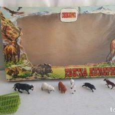 Figuras de Goma y PVC: CAJA DE FAUNA EUROPEA MAS FIGURAS DE GOMA. COMANSI.. Lote 209806485