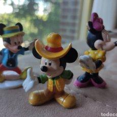 Figuras de Goma y PVC: LOTE 3 FIGURAS DISNEY, BULLY. MICKEY Y MINNIE MOUSE. Lote 209850370