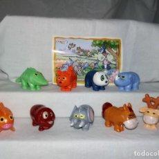 Figuras Kinder: COLECCION COMPLETA FIGURAS HUEVOS KINDER SORPRESA ANIMALES INTERCAMBIABLES. Lote 239483125