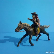 Figuras de Goma y PVC: VAQUERO A CABALLO JECSAN GOMA.. Lote 209881216