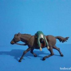 Figuras de Borracha e PVC: VAQUERO MUERTO A CABALLO. AMBOS DE GAMA. GOMA AÑOS 50.. Lote 209881603