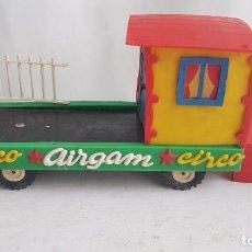Figuras de Goma y PVC: VAGON VIVIENDA PAYASO DEL CAMION DE AIRGAM PARA CIRCO DE JECSAN INCOMPLETO.. Lote 209973040