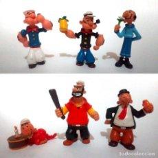 Figuras de Goma y PVC: LOTE ANTIGUAS FIGURAS GOMA PVC COMICS SPAIN 1984 1985 POPEYE COLECCION COMPLETA. Lote 210002792