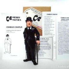 Figuras de Goma y PVC: ANTIGUA FIGURA GOMA PVC COMICS SPAIN 1992 CHARLOT CHARLES CHAPLIN NUEVO CON CAJA ORIGINAL. Lote 210017017