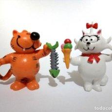 Figuras de Goma y PVC: LOTE 2 ANTIGUAS FIGURAS EN GOMA PVC COMICS SPAIN 1983 ISIDORO RASPA PESCADO Y SONIA. Lote 210045107