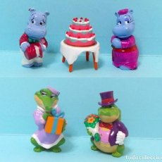 Figuras de Borracha e PVC: FIGURAS FERRERO KINDER SORPRESA - HAPPY HIPPO Y OTRAS - BODA. Lote 210272543