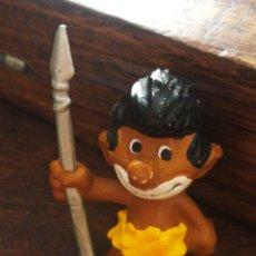 Figuras de Goma y PVC: FIGURA PVC PITUFO INDÍGENA- AÑOS 80'S.. Lote 210286215