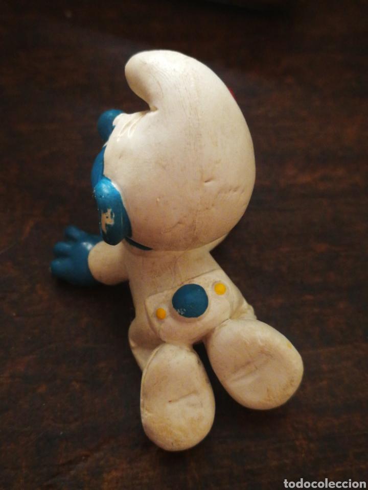 Figuras de Goma y PVC: FIGURA PVC PITUFO BEBE SONAJERO- SCHLEICH (W.GERMANY) PEYO, AÑOS 80s. - Foto 2 - 210287503