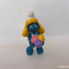 Figuras de Goma y PVC: PITUFOS - PITUFINA CON HELADO - SCHLEICH - PEYO 1984. Lote 210376293