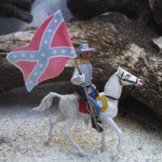 Figuras de Goma y PVC: SOLDADO CONFEDERADO CON BANDERA DE COMANSI. Lote 210409788