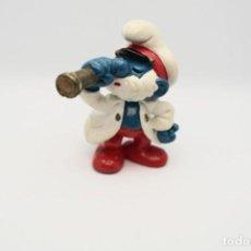 Figuras de Goma y PVC: ANTIGUA FIGURA DE PAPA PITUFO PIRATA CON CATALEJO PAPA CAPITAN SCHLEICH PEYO .. Lote 210418233