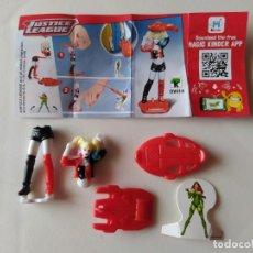 Figurines en Caoutchouc et PVC: HARLEY QUINN - JUSTICE LEAGUE - DC COMICS - KINDER - 2020 - CON BPZ Y ENEMIGO. Lote 210421385