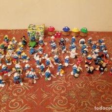 Figuras de Goma y PVC: LOTE 61 FIGURAS PITUFOS AÑOS 90-2000 MAS PARCHIS COMANSI,EN MUY BUEN ESTADO,VER FOTOGRAFIAS.. Lote 210428816