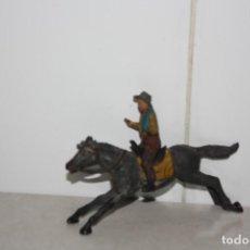 Figuras de Goma y PVC: CABALLO Y JINETE DE GOMA DE REAMSA.. Lote 210434207
