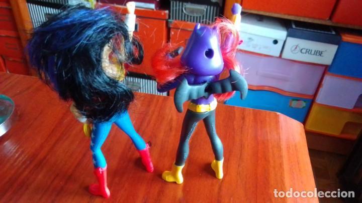 Figuras de Goma y PVC: LOTE DE 2 MUÑECOS FIGURAS DE COMIC SUPER HEROES 10 CENTIMETROS - Foto 2 - 210552100