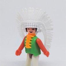 Figuras de Goma y PVC: FIGURA DE JEFE INDIO COMAN BOYS DE COMANSI REF. 630 ESPECIALISTA DEL FAR WEST. Lote 210558215