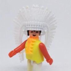 Figuras de Goma y PVC: FIGURA DE JEFE INDIO COMAN BOYS DE COMANSI REF. 630 ESPECIALISTA DEL FAR WEST. Lote 210558576