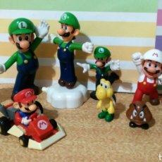 Figuras de Goma y PVC: LOTE FIGURAS MARIO BROS, CUTIE, SHY ONE, GRUMP, TRUSTY SIDERICK, LUIGI Y MARIO. Lote 210561865