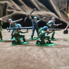 Figuras de Goma y PVC: SOLDADOS JECSAN CASCOS AZULES. Lote 210602075