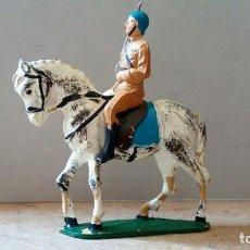 Figuras de Borracha e PVC: FIGURA DE OFICIAL DE CABALLERÍA EN GOMA DE TEIXIDO. Lote 210606110