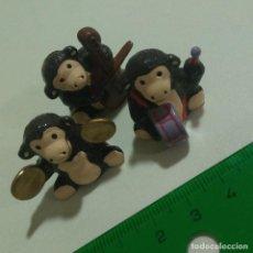 Figuras Kinder: ORQUESTA MONITOS MINI MINIATURA MUÑEQUITOS MUÑECOS FIGURITAS PLATILLOS VIOLIN. Lote 210615862