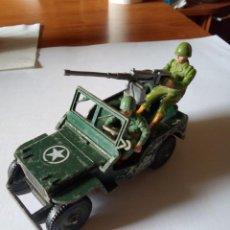 Figuras de Goma y PVC: BRITAINS JEEP CON CONDUCTOR Y AMETRALLADOR. US ARMY./ BRITAINS DEETAIL JEEP U.S / JEEP. Lote 210629173