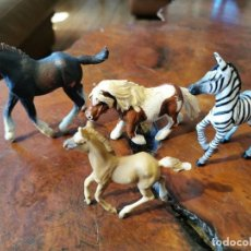 Figuras de Goma y PVC: LOTE DE CABALLOS AFLINGER POTRO PEQUE - PAPO ZEBRA - SCHLELCH PONI - SHIRE HORSE POTRO GRANDE. Lote 210841346