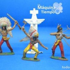 Figuras de Goma y PVC: LOTE DE INDIOS DE COMANSI 2ª ÉPOCA. AÑOS 70. FAR WEST (OESTE). INDIOS Y COWBOYS (VAQUEROS). Lote 210964815