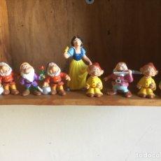 Figuras de Goma y PVC: LOTE 8 FIGURAS BLANCANIEVES Y LOS SIETE ENANITOS. BULLY. PVC.. Lote 210967605