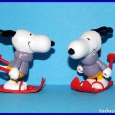 Figuras de Goma y PVC: SNOOPY ESQUIADOR FIGURA EN PVC SCHLEICH. Lote 211398967