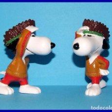Figuras de Goma y PVC: SNOOPY INDIO FIGURA EN PVC SCHLEICH. Lote 211399036