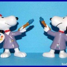 Figuras de Goma y PVC: SNOOPY PINTOR FIGURA EN PVC SCHLEICH. Lote 211399131