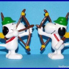Figuras de Goma y PVC: SNOOPY ROBIN HOOD FIGURA EN PVC SCHLEICH. Lote 211399264