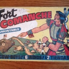 Figuras de Goma y PVC: FORT FUERTE COMANCHE OESTE AMERICANO. CAJA EN MUY BUEN ESTADO. Lote 211447121