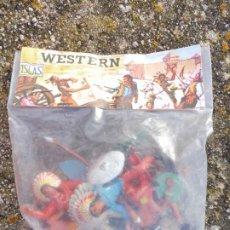 Figuras de Goma y PVC: BLISTER SIN ABRIR WESTERN OESTE INDIOS PINTADOS SIN MARCA. Lote 211724946